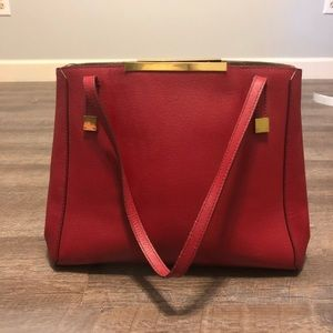 Red Leather J. Crew Purse